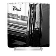 Cadillac Eldorado Taillights Shower Curtain