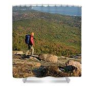 Cadillac Mountain, Acadia National Park Shower Curtain