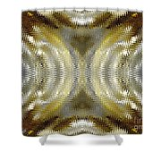 Cafe Au Lait Kaleidoscope Shower Curtain