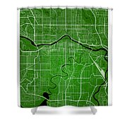 Calgary Street Map - Calgary Canada Road Map Art On Colored Back Shower Curtain