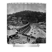 California Railroad Shower Curtain