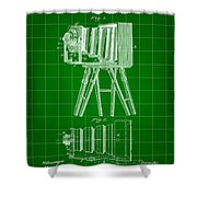 Camera Patent 1885 - Green Shower Curtain