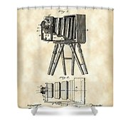 Camera Patent 1885 - Vintage Shower Curtain