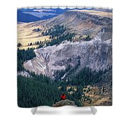 Camping On The Colorado Trail Shower Curtain