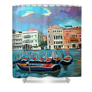 Canal Grande Shower Curtain