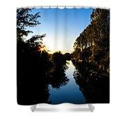 Canal Sunset Shower Curtain