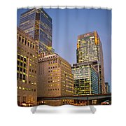 Canary Wharf. Shower Curtain
