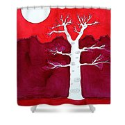 Canyon Tree Original Painting Shower Curtain