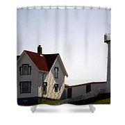 Cape Neddick Lighthouse Shower Curtain by Skip Willits