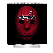 Capitals Jersey Mask Shower Curtain