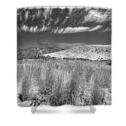 Capricious Clouds In The Volcanic Planet Shower Curtain