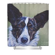 Cardigan Welsh Corgi Shower Curtain