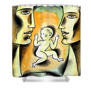 Caring Family Shower Curtain