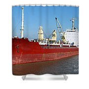 Cargo Ship Shower Curtain by Olivier Le Queinec