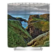 Carrick-a-rede Rope Bridge Shower Curtain