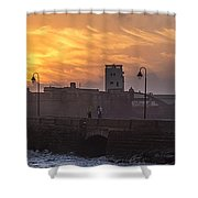 Castle Of Saint Sebastian Cadiz Spain Shower Curtain