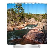 Castor River Shut Ins Shower Curtain