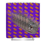 Cat Trip Pop 002 Limited Shower Curtain