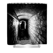 Catacomb Tunnels In Paris France Shower Curtain