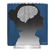 Cerebral Activity In Woman Shower Curtain