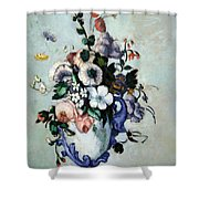 Cezanne's Flowers In A Rococo Vase Shower Curtain