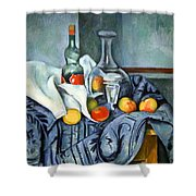 Cezanne's The Peppermint Bottle Shower Curtain