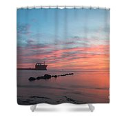 Charleston Harbor Sunset Shower Curtain