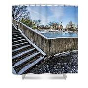 Charlotte North Carolina Marshall Park In Winter Shower Curtain