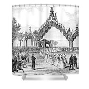 Chicago Lincoln Funeral Shower Curtain