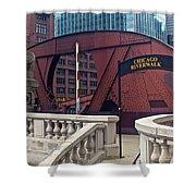 Chicago Riverwalk Shower Curtain