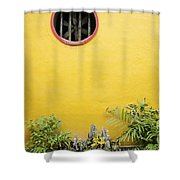 Chinese Temple Garden Detail In Vietnam Shower Curtain
