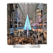 Christmas Shopping In Toronto Shower Curtain