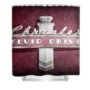 Chrysler Fluid Drive Emblem Shower Curtain