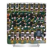 Circuit Board Shower Curtain