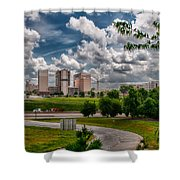 City Streets Of Charlotte North Carolina Shower Curtain
