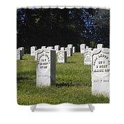 Civil War Dead At Arlington Shower Curtain