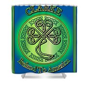 Clarke Ireland To America Shower Curtain