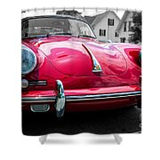Classic Red P Sports Car Shower Curtain