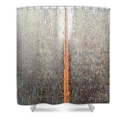 Close-up Of A Metal Wall Surface Shower Curtain