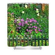 Close-up Of Flowers, Muren, Switzerland Shower Curtain