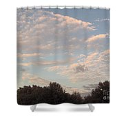 Clouds Above The Trees Shower Curtain