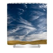 Clouds And Field Shower Curtain