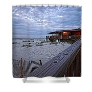 Cloudy Morning At The Sea N Suds Shower Curtain