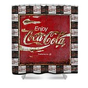 Coca Cola Signs Shower Curtain