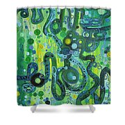 Coil To Globule Shower Curtain