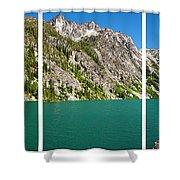 Colchuck Lake, Alpine Lakes Wilderness Shower Curtain