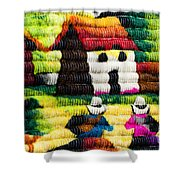 Colorful Fabric At Market In Peru Shower Curtain