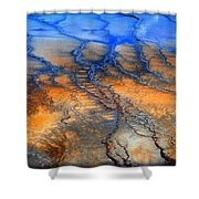 Colorful Runoff Shower Curtain