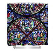 Colourful Stained Glass Window In Shower Curtain