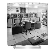 Computer Room, 1999 Shower Curtain